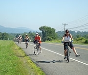 Bike route in Lakeville, Litchfield County, CT