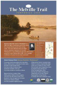 Melville Trail - Pontoosuc Lake Marker